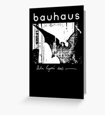 Bauhaus - Bat Wings - Bela Lugosi's Dead Greeting Card