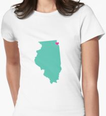 illinois Womens Fitted T-Shirt