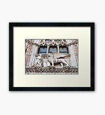 Lion of St Mark. Framed Print
