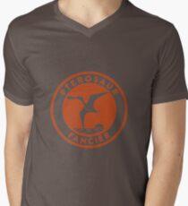 Pterosaur Fancier Tee (Orange on White) Mens V-Neck T-Shirt