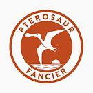 Pterosaur Fancier Tee (Orange on White) by David Orr