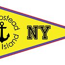 HEMPSTEAD LONG ISLAND NEW YORK ANCHOR NAUTICAL FLAG PENNANT OCEAN BEACH SURFING SURF YACHT YACHTING BOAT by MyHandmadeSigns