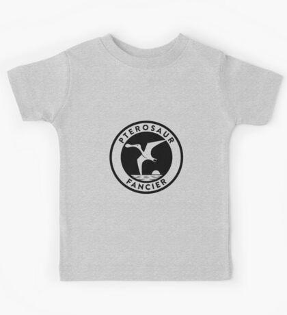 Pterosaur Fancier Tee (Black on Light) Kids Clothes