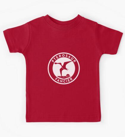 Pterosaur Fancier Tee (White on Dark) Kids Clothes