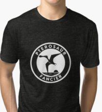 Pterosaur Fancier Tee (White on Dark) Tri-blend T-Shirt