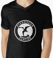 Pterosaur Fancier Tee (White on Dark) Mens V-Neck T-Shirt