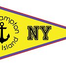 SOUTHAMPTON LONG ISLAND NEW YORK ANCHOR NAUTICAL FLAG PENNANT OCEAN BEACH SURFING SURF YACHT YACHTING BOAT by MyHandmadeSigns