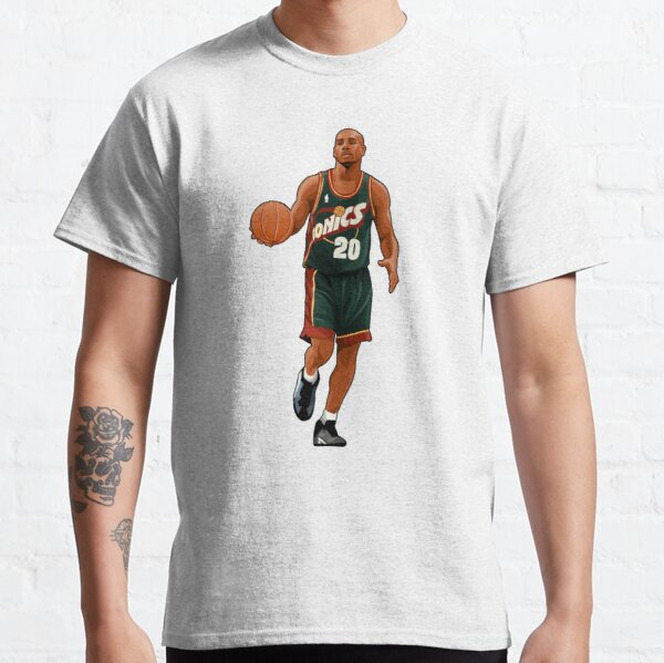 Gary Payton #20 Moves The Balls Classic T-Shirt