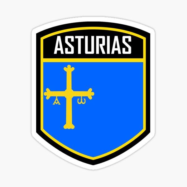 Asturias Spain Flag Emblem Sticker