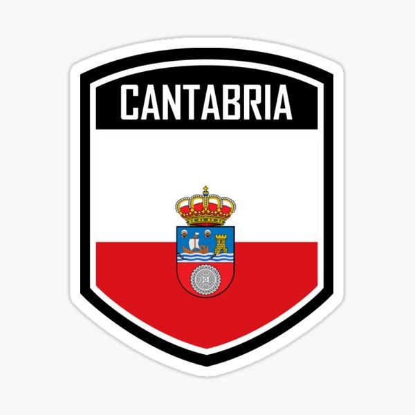 Emblema de la bandera de Cantabria España Pegatina