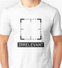 Irrelevant - Person of Interest (Black) Unisex T-Shirt