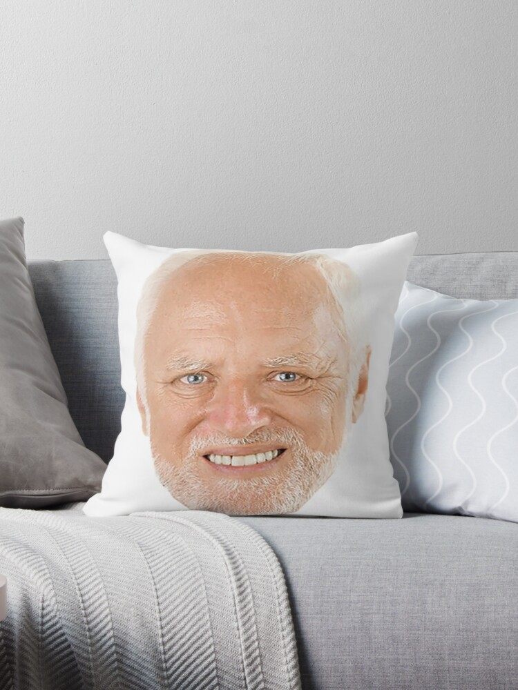 Quot Hide The Pain Harold Quot Throw Pillow By Ermay12 Redbubble