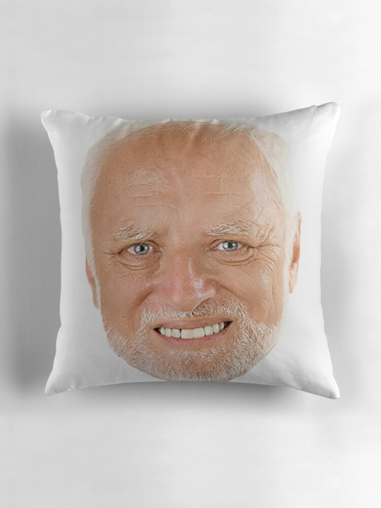 Quot Hide The Pain Harold Quot Throw Pillows By Ermay12 Redbubble