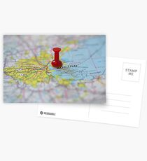 Boston on a Map Postcards