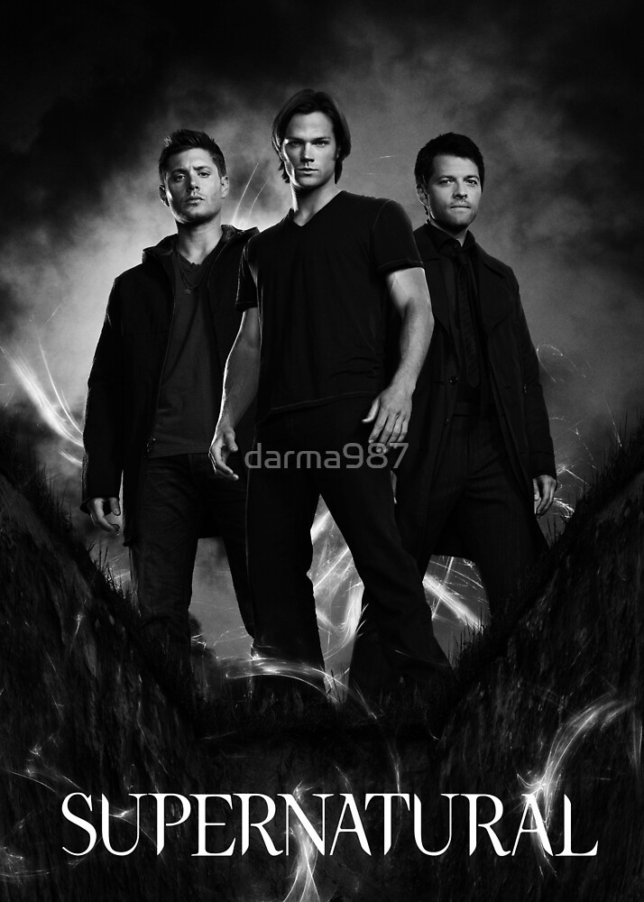 supernatural black and white by darma987