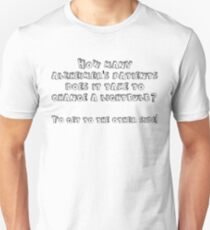 How many alzheimer's patients does it take to change a lightbulb To get to the other side Unisex T-Shirt