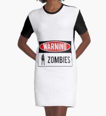 Warning - Zombies Graphic T-Shirt Dress