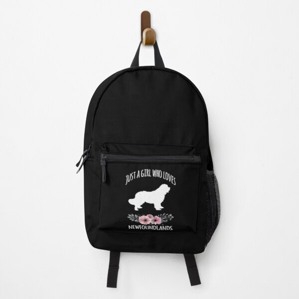 Just a Girl who loves Newfoundland Dogs, Newfoundland Dog Lover, Newfoundland Mom, Newfoundland Owner, Newfoundland Kid, Newfie Backpack
