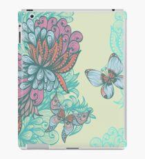 Vinilo o funda para iPad Mariposa y rosa