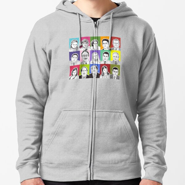 The Office Cast Zipped Hoodie