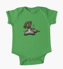 Wirehaired Pointing Griffon & Duck Baby Body Kurzarm