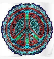 Peace Mandala Meditation - Visualize World Peace - Pray for Peace - Poster