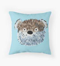 Fat Puffer Fish Throw Pillow