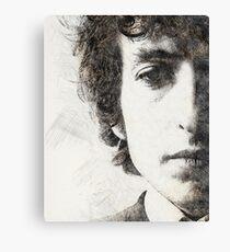 Bob Dylan portrait 02 Canvas Print