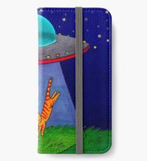 Aliens Want Kitties iPhone Wallet