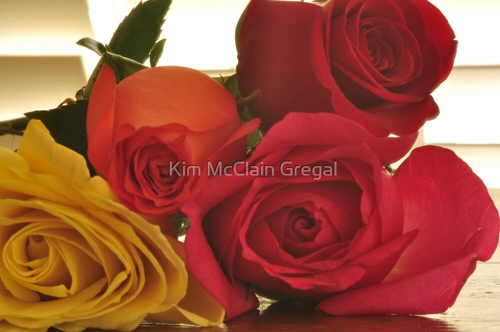 Four Colors of Roses, As Is by Kim McClain Gregal