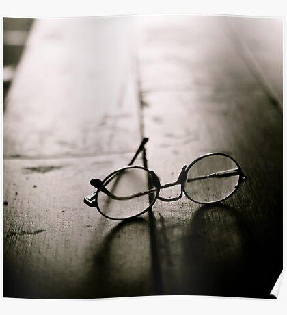 light in glasses Poster
