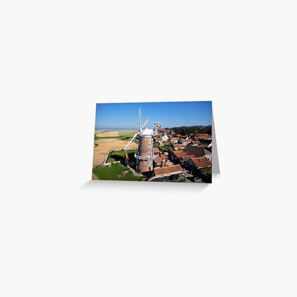 Cley Windmill - Unusual Aeriel shot Greeting Card