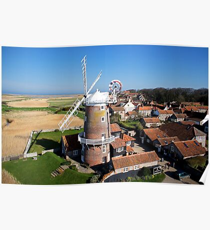 Cley Windmill - Unusual Aeriel shot Poster