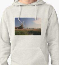 Cley Windmill - Unusual Aeriel shot Pullover Hoodie