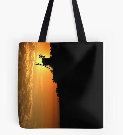 Cley Windmill - Unusual Aeriel shot Tote Bag
