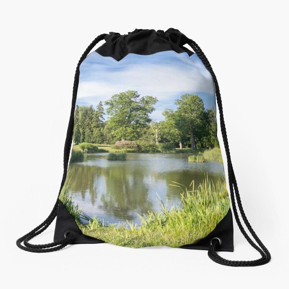Rural Lake Drawstring Bag