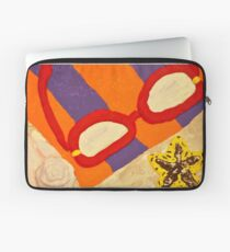 Beach Towel with Glasses, Seashell, and Starfish Laptop Sleeve