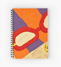 Beach Towel with Glasses, Seashell, and Starfish Spiral Notebook