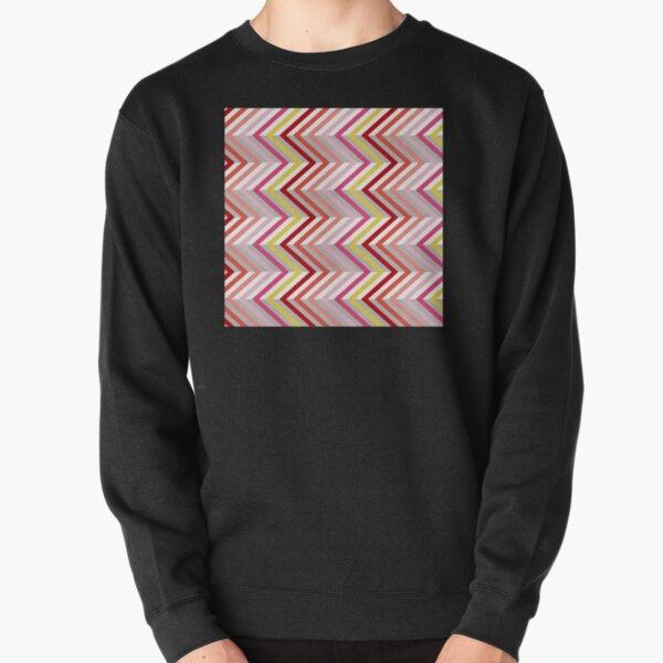 Zigzag Pattern Pullover Sweatshirt