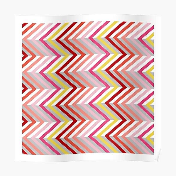 Zigzag Pattern Poster