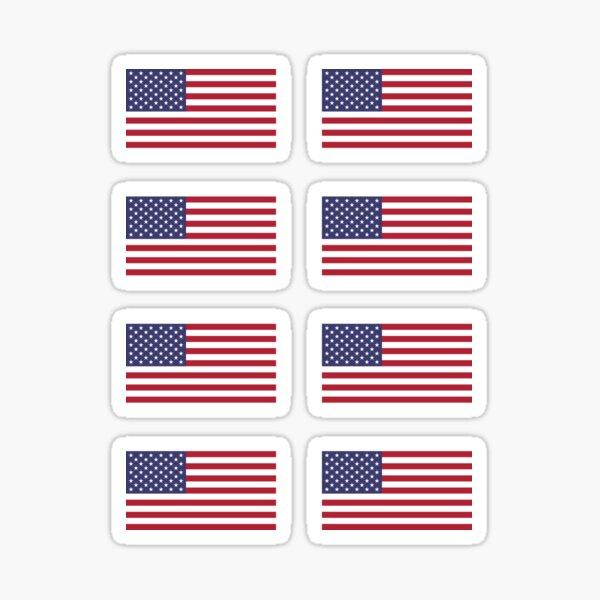 USA Flag ×8 Sticker