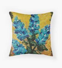 SHADES OF BLOOM - Stunning Acrylic Floral Abstract Modern Home Decor Hyacinths Bold Color Garden  Throw Pillow