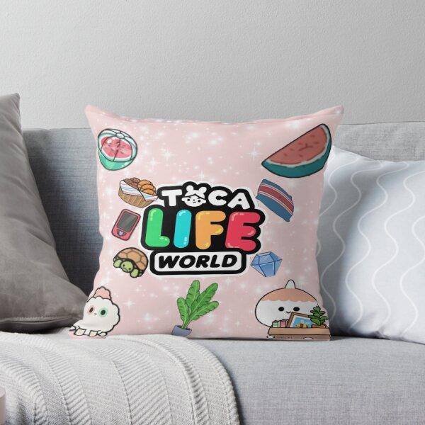 toca boca - toca boca 2021 - toca life world Throw Pillow