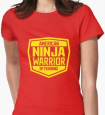 American Ninja Warrior - Yellow Womens Fitted T-Shirt