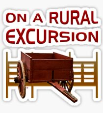 On A Rural Excursion Sticker