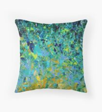 BEAUTY BENEATH THE SURFACE - Stunning Lake Ocean River Water Nature Green Blue Teal Yellow Aqua Abstract Kissen