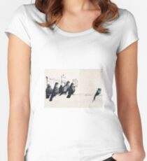 Banksy 'Migrants go home' graffiti art. Women's Fitted Scoop T-Shirt
