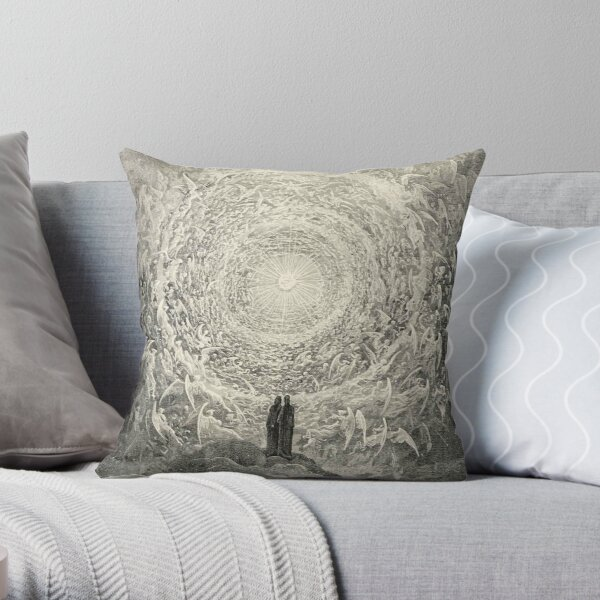 ANGELS AND DEMONS. Dante, Heaven, Heavenly, The Divine Comedy, Gustave Dore, Highest, Heaven. Throw Pillow