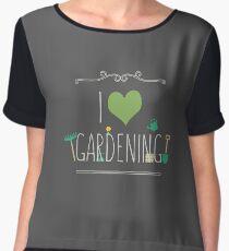 I love gardening Chiffon Top