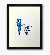 successful idea woman Framed Print